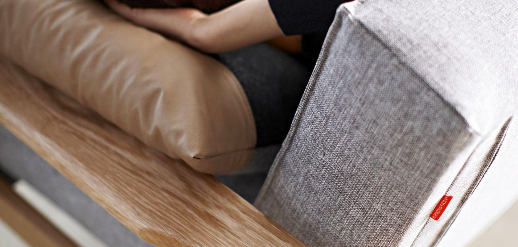 Istyle 2015 Splitback Sofa Bed With Frej Armrests Lacqured Oak 521 Mixed Dance Grey Sofa Position Model 02