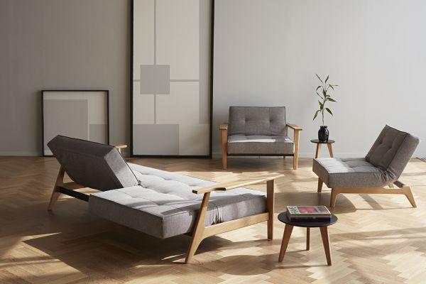 Splitback Frej Oak Sofa Bed 521