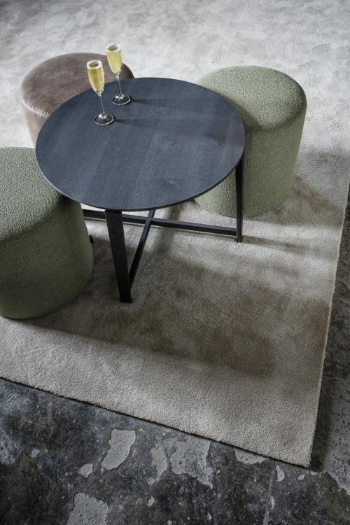 Table Basse Tube Bois Noir