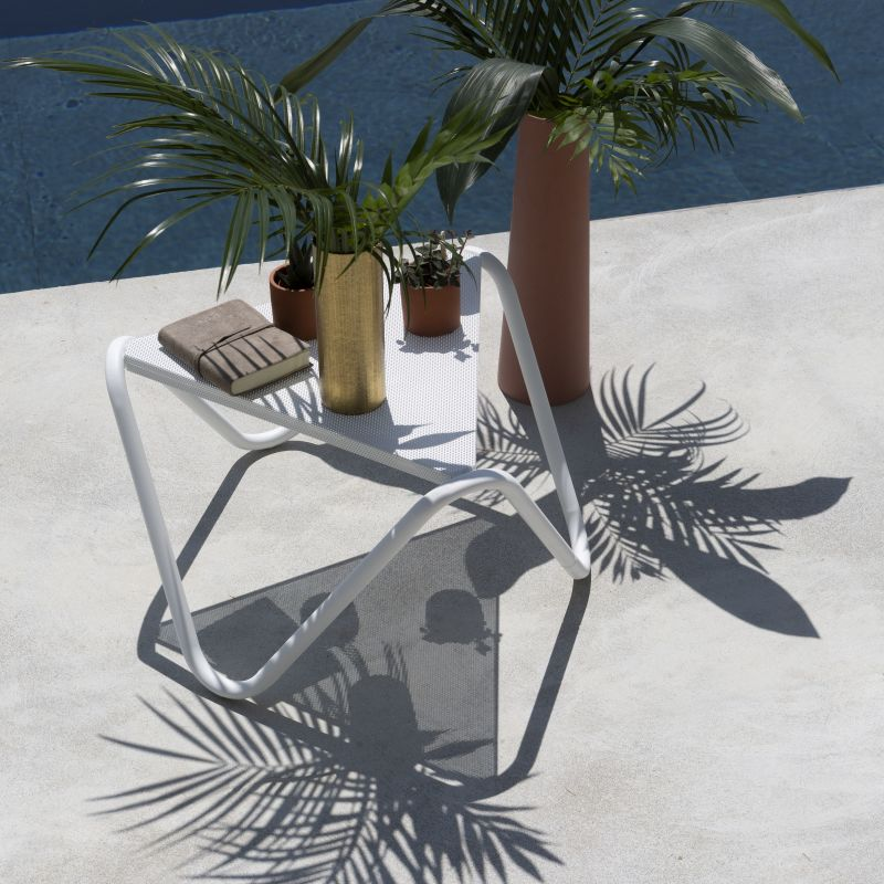 Table D'appoint Blanc Vogue Lafuma