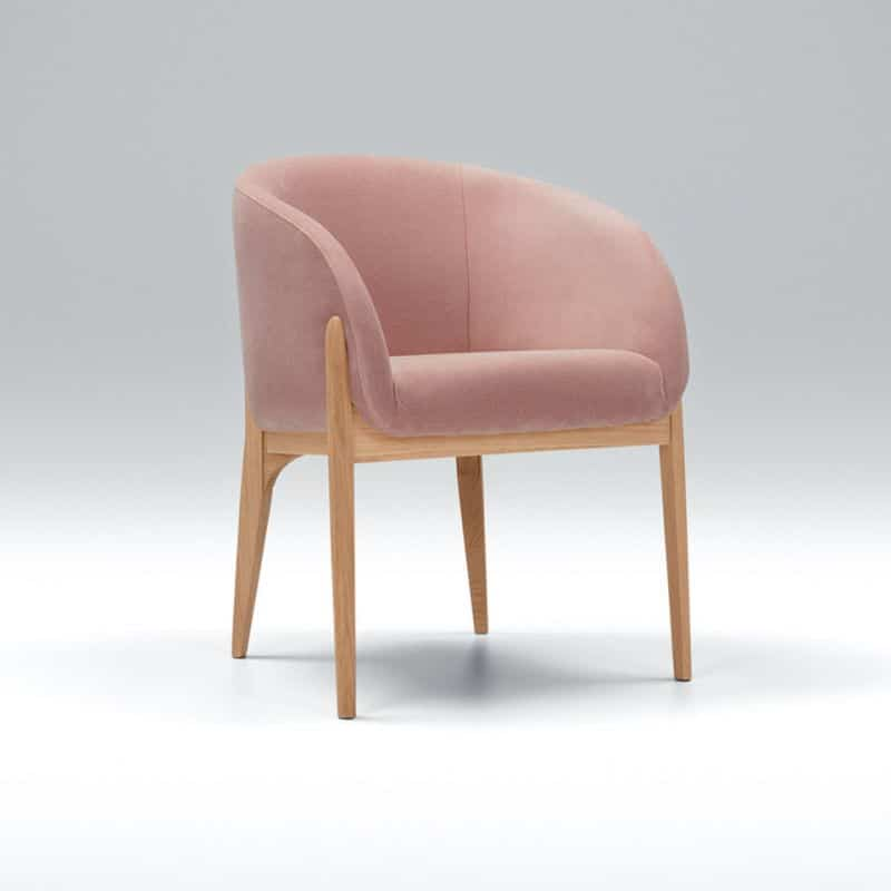 Jenny Bistro Chair Malibu Velvet 8 Powder Pink