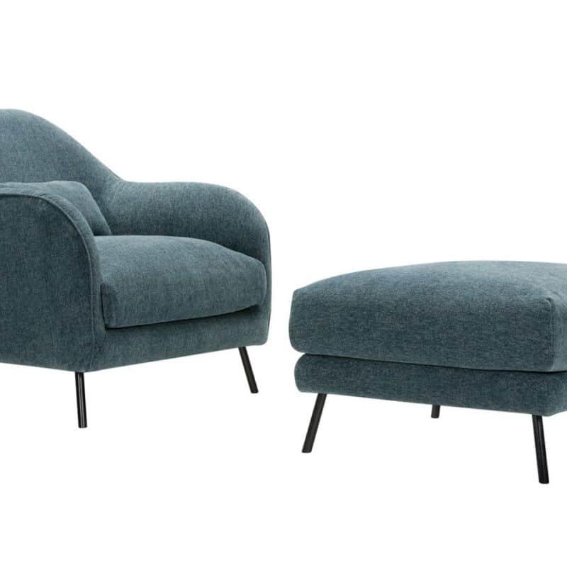 Karin Armchair Footstool Stipa8 Turquoise 3